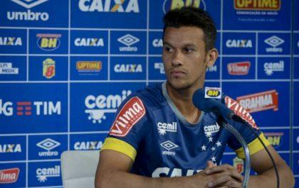 Capitão do Cruzeiro em entrevista coletiva | Foto: Divulgação