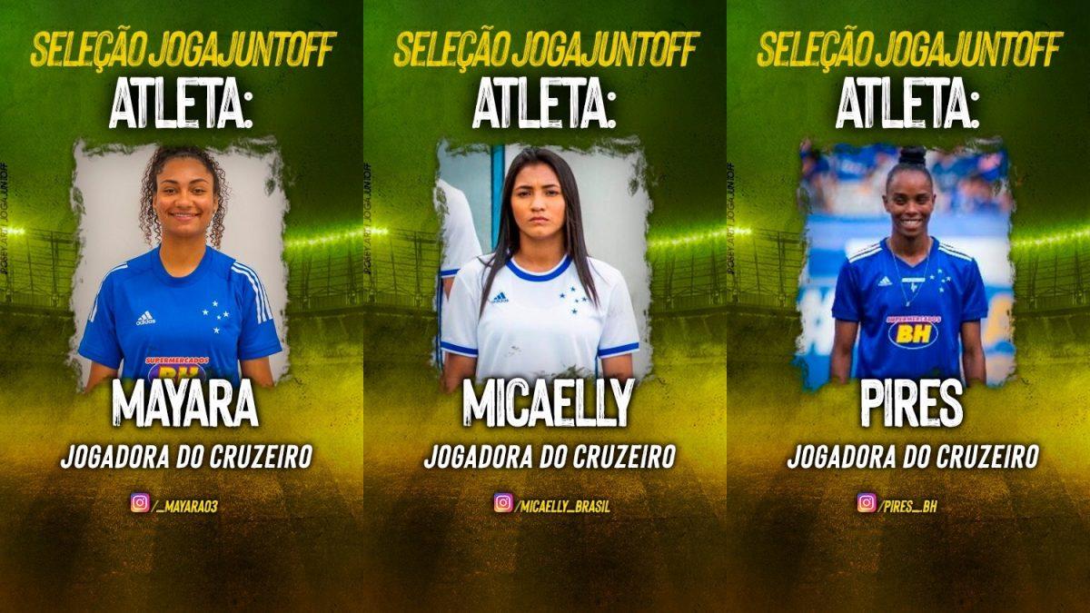 Jogadoras do Cruzeiro participam de campanha de arrecadação de fundos para combate ao COVID-19